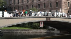 National elections in sweden 2014 - outside parliament Stock Footage