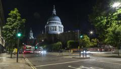 St. Paul's Cathedral. Cannon street view. London, UK. Stock Footage