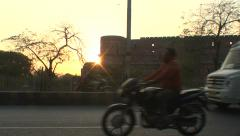 984. India. Agra road Stock Footage