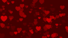 wedding loop motion background, particle heart - stock footage