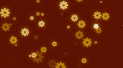 Stock Video Footage of abstract loop motion background, particle flowers