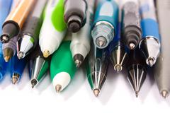 Colored ballpoint pens Stock Photos