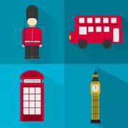 icons london - stock illustration