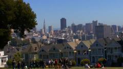 Alamo Square San Francisco HD Stock Footage