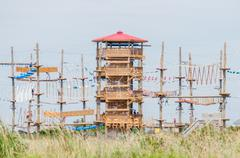 Obstacle course tower Stock Photos