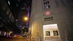 Bank of China rakennuksen. Arkistovideo