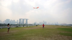 man play with kite - stock footage