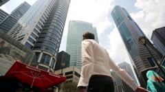 People at Raffles Place. Stock Footage
