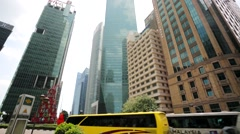 Raffles Place district. Stock Footage