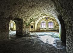 Western fort in swinoujscie, poland, hdr processing. Stock Photos