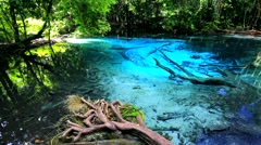 Blue Pool (Sra Nam Phut) Stock Footage