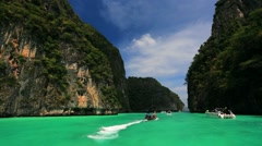 Boat trip to tropical islands, Phi Phi Stock Footage