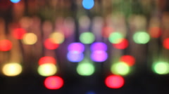 Light Bokeh Of LED Lamp In Fountain Stock Footage