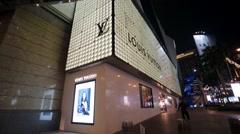 Louis Vuitton store. Stock Footage