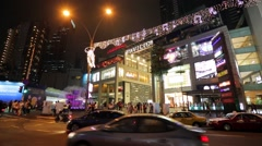 People at Bukit Bintang. Stock Footage
