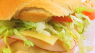 Stock Video Footage of Sandwich Close Up