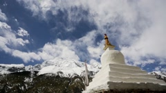 Monastery in Himalaya mountains Stock Footage