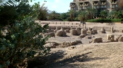 Stock Video Footage of Western Asia Red Sea Jordan Aqaba 002 archaeological excavation site