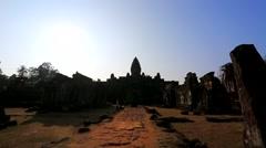 The ruins of Bakong, Angkor, Cambodia. Stock Footage