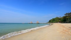 Independence beach view. Stock Footage