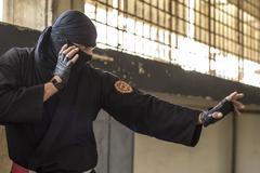 Ninja In Action - stock photo