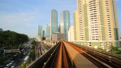 Driverless metro train Stock Footage