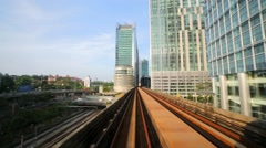 The citview from mouving LRT train Stock Footage