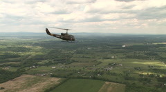 Medivac flying from the air Stock Footage