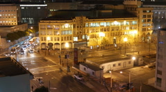 Market Street San Francisco Editorial Time Lapse with Zoom Stock Footage