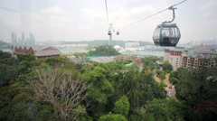 Aerial view from cable car ride Stock Footage