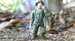 Toy Army Action Figure Blows Up Stock Footage