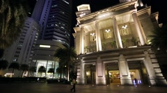 The Fullerton Hotel Stock Footage