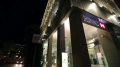 HSBC Bank branch. Stock Footage