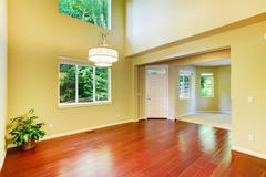 Empty house interior. foyer with high ceiling Stock Photos