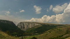 Turzii Gorge cumulus clouds rising HD Stock Footage