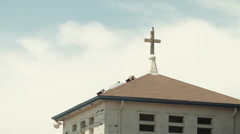 Abandoned Naval Church - stock footage
