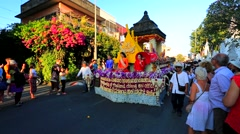 Stock Video Footage of 38th Anniversary Chiang Mai Flower Festival