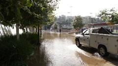 Pauley Pavilion Flooding Stock Footage