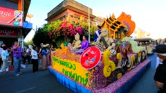 38th Anniversary Chiang Mai Flower Festival - stock footage