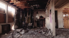 Abandoned Naval Buildings Messed Up Office - stock footage