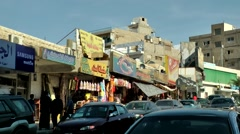 Western Asia Red Sea Jordan Aqaba 014 shopping street in city center Stock Footage