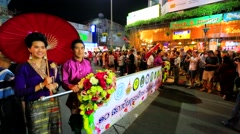 38th Anniversary Chiang Mai Flower Festival Stock Footage