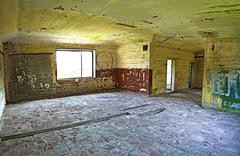 Old abandoned building interior, hdr processing. Stock Photos