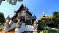 Stock Video Footage of Backpacker visit Wat Chedi Luang.
