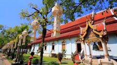 Wat Phra Singh Woramahaviharn temple Stock Footage