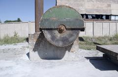 Stock Photo of The old a saw for cutting stone