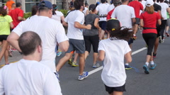 Crowd of marathon runners 3 Stock Footage