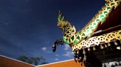 Bronze bells at Doi Suthep temple Stock Footage