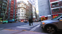 Traffic in Buenos Aires Stock Footage