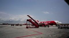 AirAsia Jet airplane Stock Footage